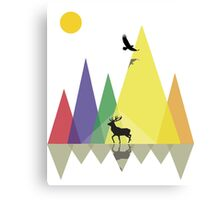 Wild Mountains Landscape Geometric  Canvas Print
