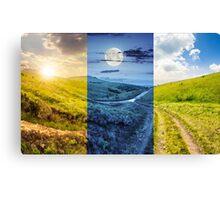 path through highland meadows Canvas Print