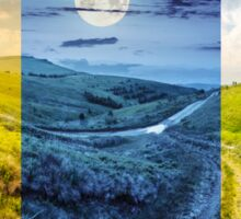 path through highland meadows Sticker