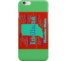 Colorful Indiana State Pride Map iPhone Case/Skin