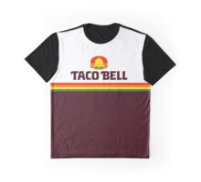 Retro Taco Inspired Bell Logo Graphic T-Shirt