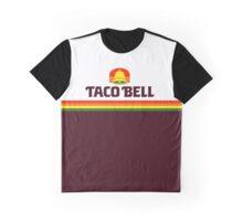 Retro Taco Inspired Bell Logo Graphic T-Shirt