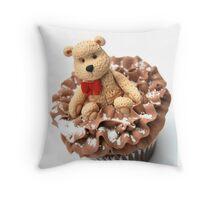 Christmas Teddy Bear Cupcake Throw Pillow