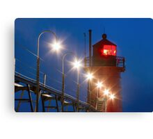 South Haven Michigan Light and Catw Canvas Print