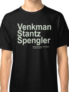 Ghostbusters Venkman Stantz Spengler Classic T-Shirt