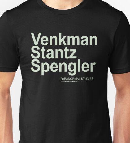 Ghostbusters Venkman Stantz Spengler Unisex T-Shirt