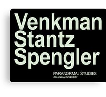 Ghostbusters Venkman Stantz Spengler Canvas Print