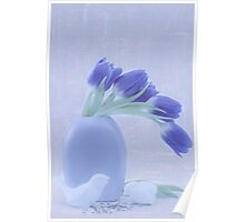 Tulips And Birdies  Poster