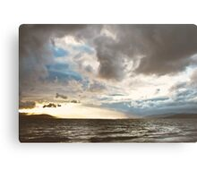 Stormy Evening, Buncrana Co. Donegal, Ireland. Metal Print