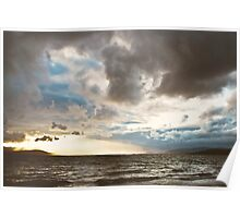 Stormy Evening, Buncrana Co. Donegal, Ireland. Poster