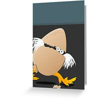 Precocious Chicken Greeting Card