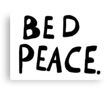 Bed Peace Canvas Print