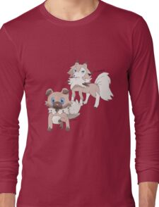 Rockruff and Lycanroc Midday Form Long Sleeve T-Shirt