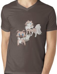 Rockruff and Lycanroc Midday Form Mens V-Neck T-Shirt