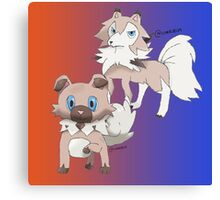 Rockruff and Lycanroc Midday Form Canvas Print