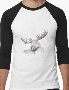 Moose Painting Men's Baseball ¾ T-Shirt