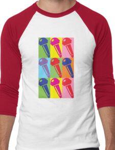 Pop Art Microphone Men's Baseball ¾ T-Shirt