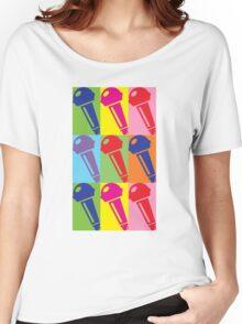 Pop Art Microphone Women's Relaxed Fit T-Shirt