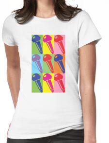 Pop Art Microphone Womens Fitted T-Shirt