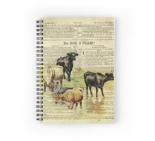 Farm Cow on Psalm 1 Spiral Notebook