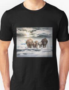 Elephants and Babys Unisex T-Shirt