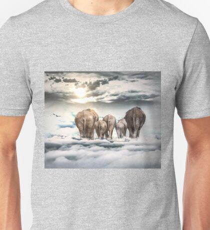 Elephants and Babys Unisex T-Shirt