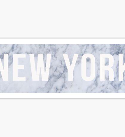 Marble New York Sticker