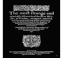 THREE WITCHES Photographic Print