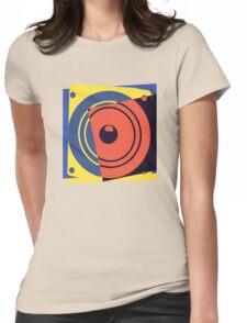 Pop Art Music Speaker Womens Fitted T-Shirt