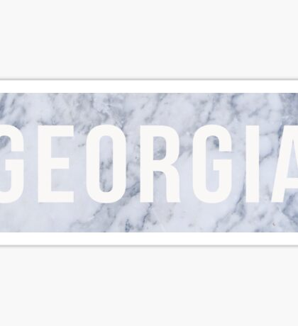 Marble Georgia Sticker