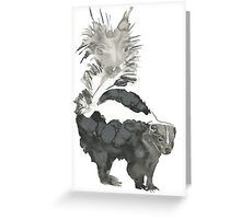 Skunk Painting  Greeting Card