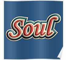 Vintage colorful soul music Poster