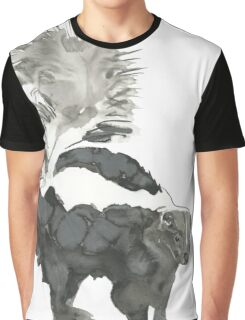 Skunk Painting  Graphic T-Shirt