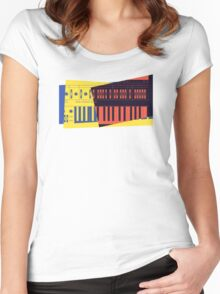 Pop Art Synth 101 Women's Fitted Scoop T-Shirt