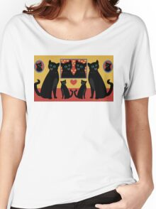 CATS AND FAMILY PICTURES Women's Relaxed Fit T-Shirt