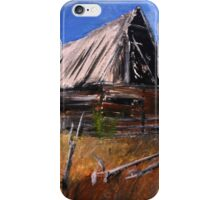Old Barn New Mexico Desert Contemporary Acrylic Painting iPhone Case/Skin