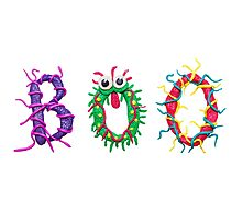 Colorful text Boo Photographic Print