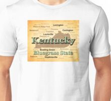 Aged Kentucky State Pride Map Silhouette  Unisex T-Shirt