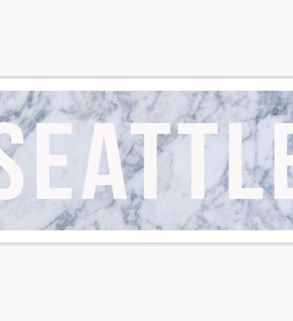 Marble Seattle Sticker