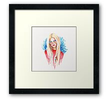 Boho girl Framed Print