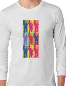 Pop Art Sax Player Long Sleeve T-Shirt
