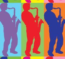 Pop Art Sax Player Sticker