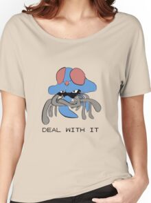 Tentacruel says Deal With It Women's Relaxed Fit T-Shirt
