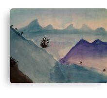 Watercolor Landscape Canvas Print