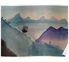 Watercolor Landscape Poster