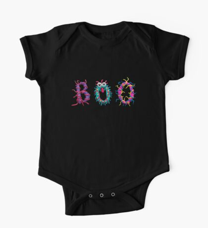 Colorful text Boo One Piece - Short Sleeve