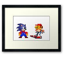 Mario Sonic Nintendo Sega Framed Print