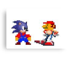 Mario Sonic Nintendo Sega Canvas Print