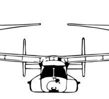 V22 Osprey (front) Sticker
