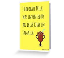 Chocolate Milk Is Multicultural Greeting Card